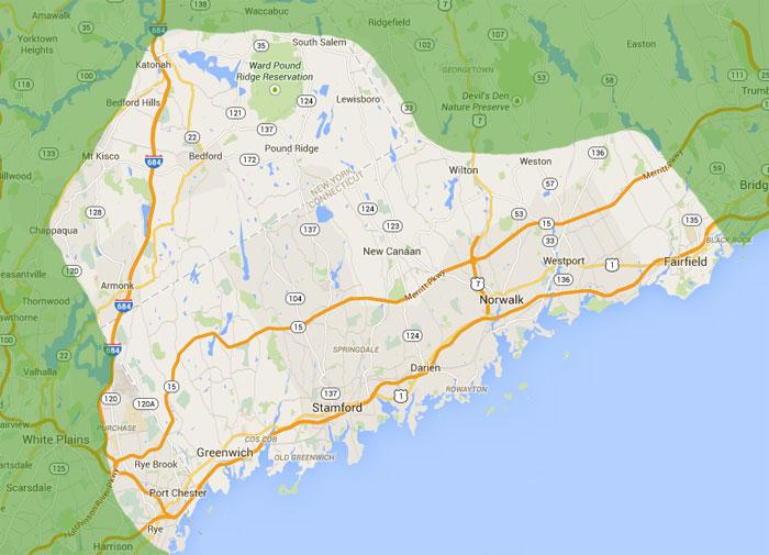 Service Area | Asphalt Paving Stamford CT | Darien CT